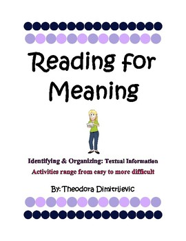 Reading for Meaning: Main Message Interactive Activities