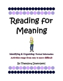 Reading for Meaning: Main Message Interactive Activities - W.5.2, W5.2a, W5.2b