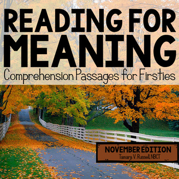 Reading for Meaning: November Edition