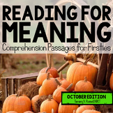 Reading for Meaning: October Edition