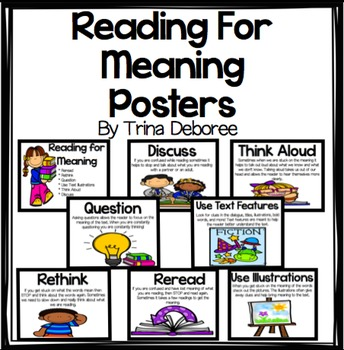 Reading for Meaning Posters
