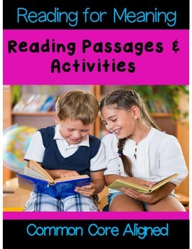Reading for Meaning: Reading Passages & Comprehension Activities