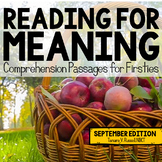Reading for Meaning: September Edition