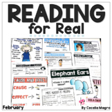 Reading for Real-A Month of Reader's Workshop Lesson Plans & Activities February