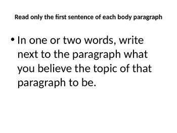 Reading for Revision: Persuasive Essays