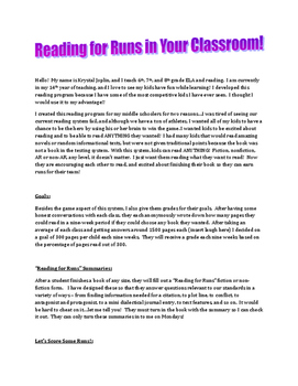 Reading for Runs - Reading Incentive Program (Baseball Style)