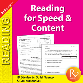 Reading for Speed & Content for Grades 3-4 - Enhanced