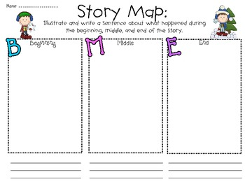Graphic organizers & activity journal sheets: Winter-themed