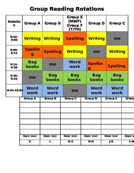Reading group rotations- editable