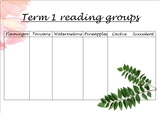 Reading groups poster term 1 FREE