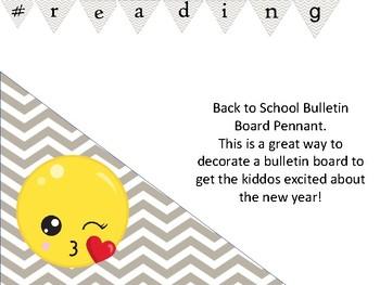 Reading # hashtag bulletin board header chevrondecor for back to school