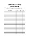 Reading homework feedback form