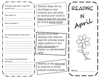 Reading in April Brochure