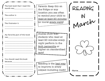 Reading in March Brochure