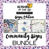 Reading in Real Life Community Signs Bundle for Special Education