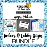 Reading in Real Life Indoor & Lobby Signs Bundle for Speci