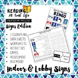 Reading in Real Life: Indoor & Lobby Signs Unit
