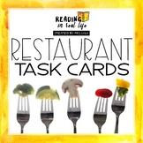 Reading in Real Life: Restaurant Task Card Bundle