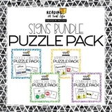 Reading in Real Life: Signs Puzzle Bundle
