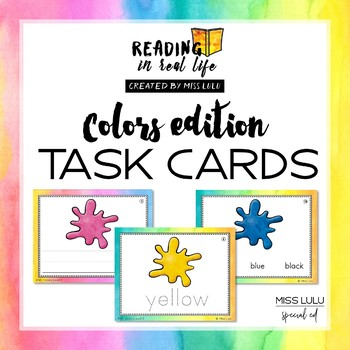 Reading in Real Life Task Cards: Colors