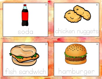 Reading in Real Life Task Cards: Fast Food