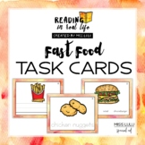Functional Reading Task Cards: Fast Food Words [Reading in