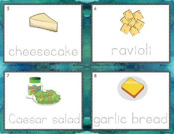 Reading in Real Life Task Cards: Italian Restaurant