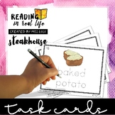 Reading in Real Life Task Cards: Steakhouse