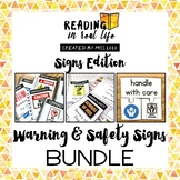 Reading in Real Life Warning & Safety Signs Bundle for Spe