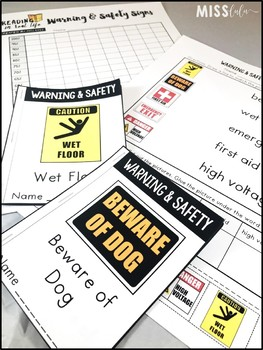 Reading in Real Life: Warning & Safety Signs Unit