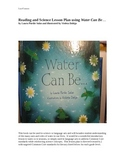 Reading in Science Lesson Plan for the book Water Can Be...
