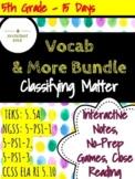 Science Vibrant Vocabulary Bundle: Classifying Matter