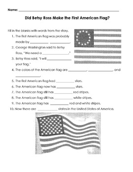 Reading in Social Studies w Reading Strategy DID BETSY ROSS MAKE THE FIRST FLAG?