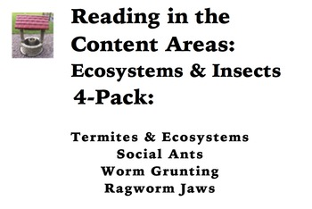 Reading in the Content Areas:  Ecosystems & Insects