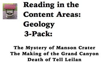 Reading in the Content Areas:  Geology 3-pack