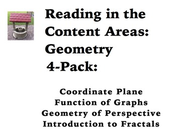 Reading in the Content Areas:  Geometry and Coordinate Planes 4-Pack