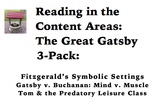 Reading in the Content Areas:  Great Gatsby 3-Pack