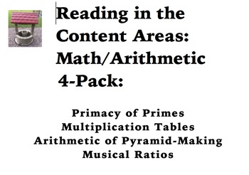 Reading in the Content Areas: Math Arithmetic 4-Pack