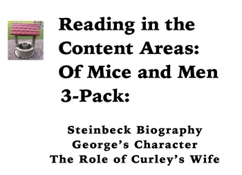 Reading in the Content Areas:  Of Mice and Men 3-Pack