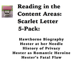 Reading in the Content Areas:  Scarlet Letter 5-Pack