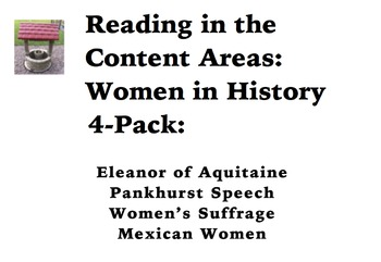 Reading in the Content Areas:  Women in History