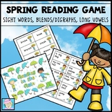 Spring Literacy Centers | Rain Activities | Blends Digraphs CVCe Words