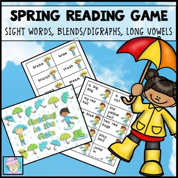 Reading in the Rain:  Blends, Digraphs, Long Vowels, and S