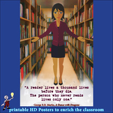 ELA classroom or library poster to inspire reading