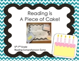 Reading is A Piece of Cake! Comprehension Game