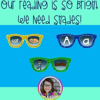 Reading is Bright CVC and Phonics Literacy Center Pack