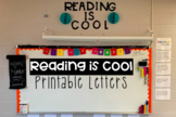 Reading is Cool Large Letters