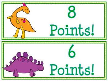 Reading is Dino-mite AR Goal Clip Chart