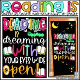 Reading is Dreaming March Library Bulletin Board, Door Dec