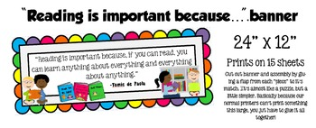 """Reading is Important Because..."" Banner"